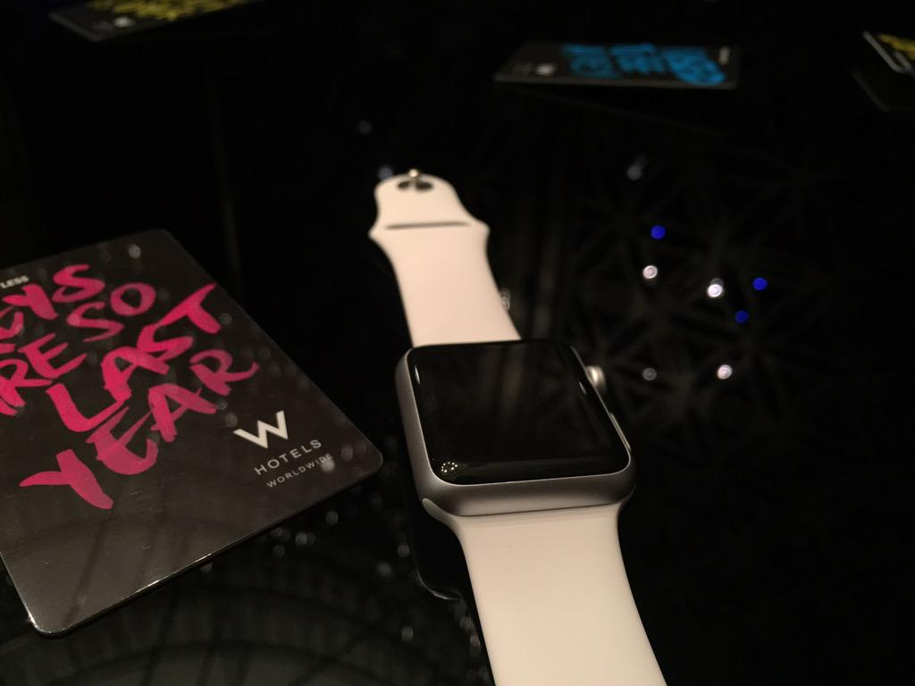 Impressed by @wdoha - the first hotel in #Qatar to use the #AppleWatch for keyless entry to rooms #KeylessWDoha http://t.co/T047WtY1Ik