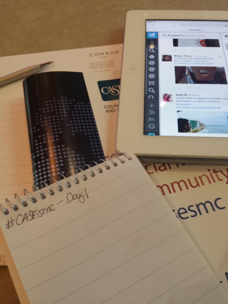 Going old school/new school for first day of #casesmc http://t.co/wmPLCYzuon