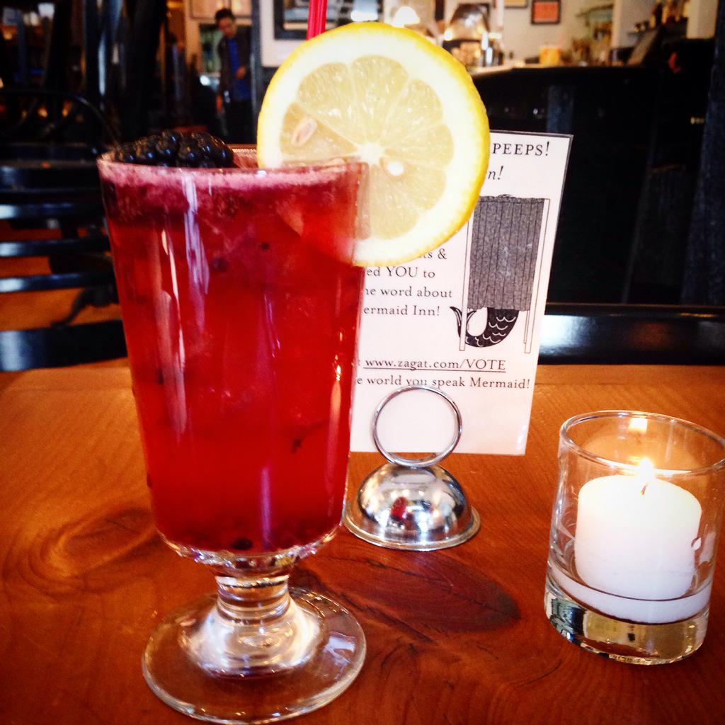 The Evening Primrose made w/ kettle  one #vodka, blackberry, wild honey, lavender bitters & lemon #uws #cocktails http://t.co/VgJJZjNFcC