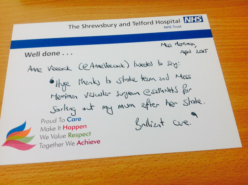 @AnneVeecock @butNHS  Best wishes to your mum, thanks so much for sharing so that I can pass to Miss Merriman et al http://t.co/dYDMHZaHnJ
