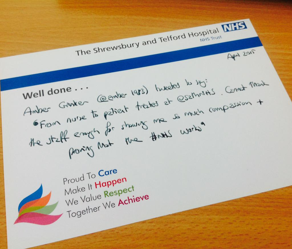@amber1983  Hope you're ok! That's brilliant to hear - any particular ward or dept I can share it with? #ProudToCare http://t.co/wSUyQzbQzW
