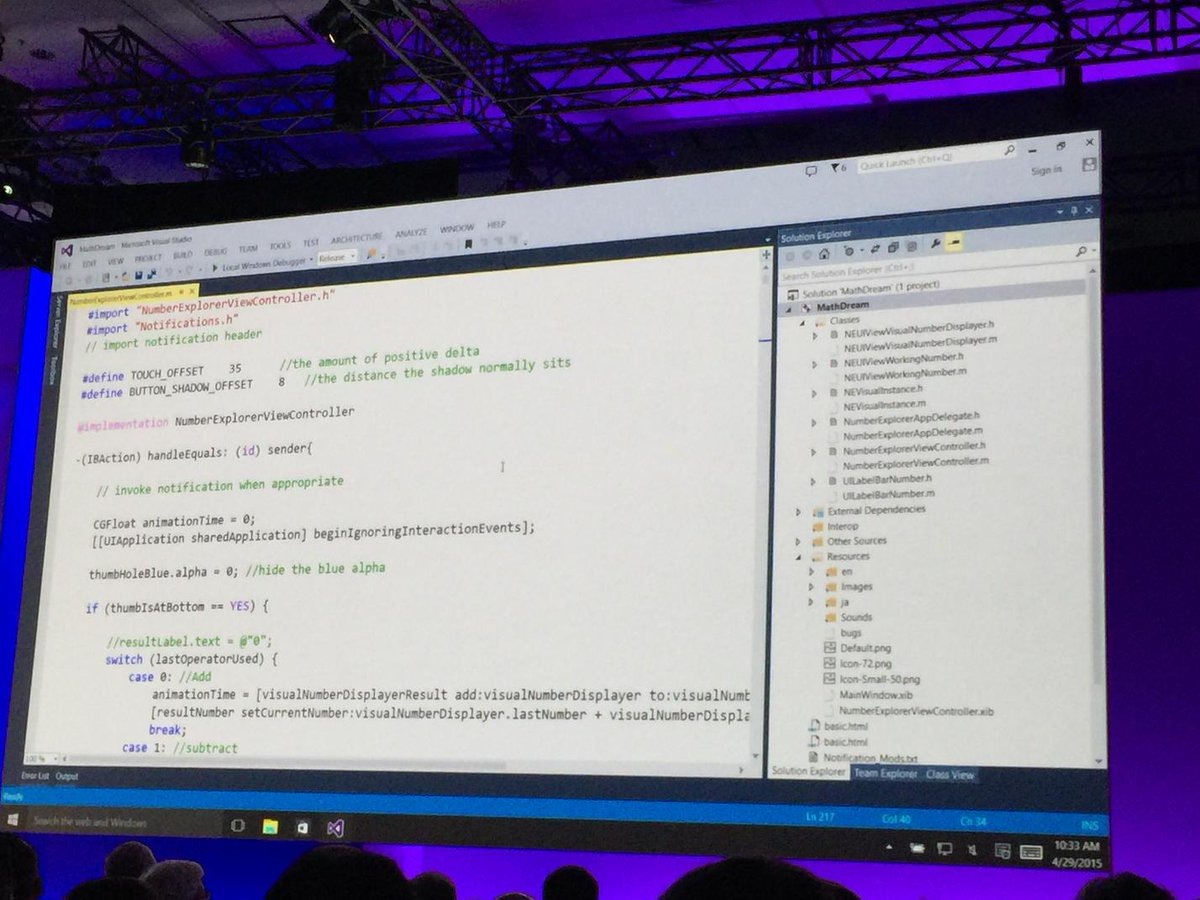 Objective-C in Visual Studio! #build2015 http://t.co/9L5ZkEClyp