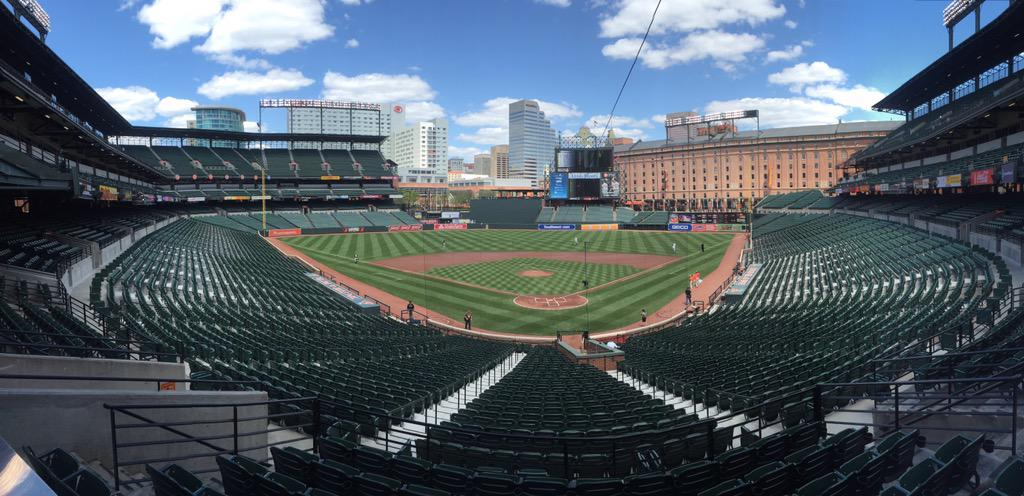 About 15 minutes until first pitch. Here's what it looks like: http://t.co/Sf8Pua5y0V