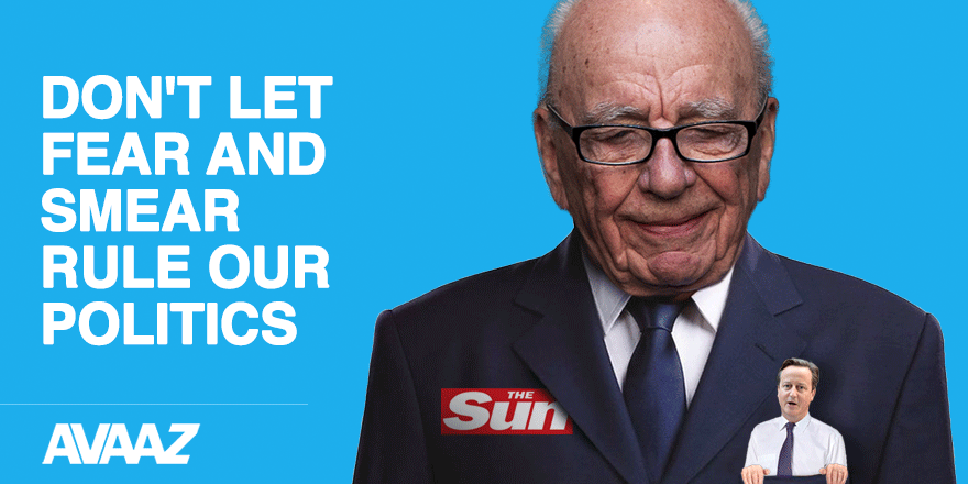 Let's ignore the Murdoch & Mail fear agenda. Vote with hope & for what you believe in. http://t.co/JJZrOPYilx http://t.co/d6vtS8X0xG