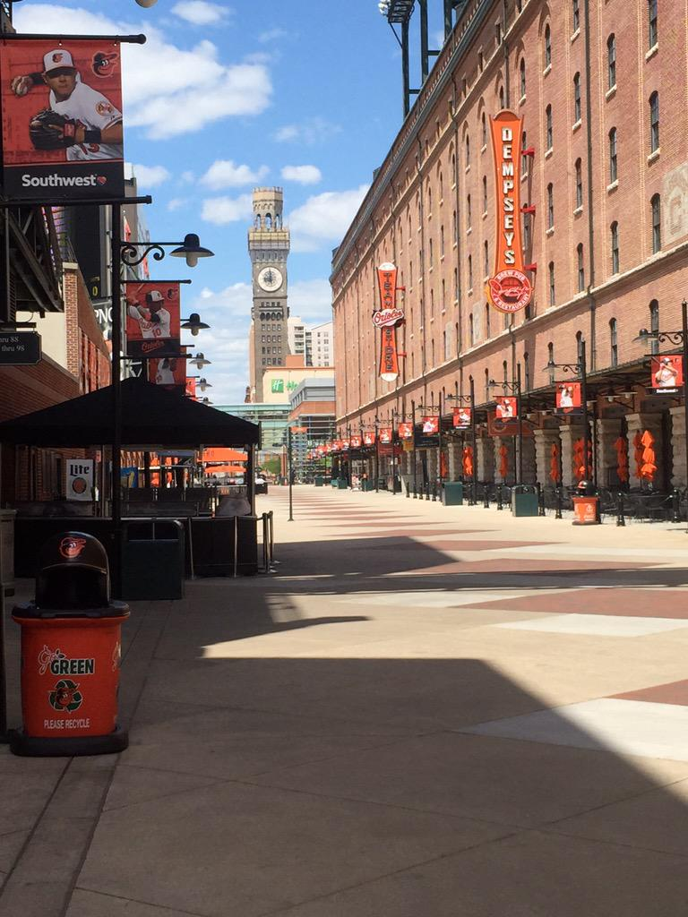 This is famed Eutaw Street right at the game's start: http://t.co/Z7r7FFJS9E