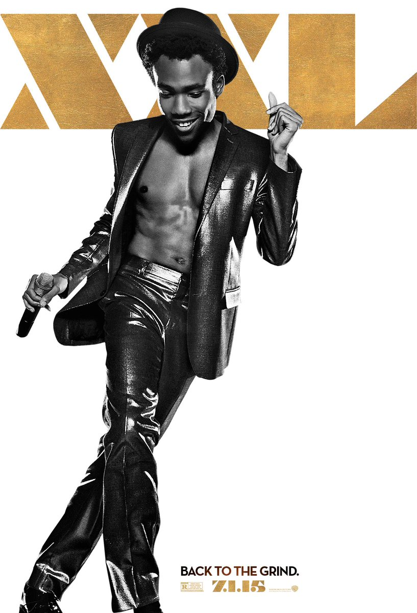 "Donald Glover's ""Magic Mike XXL"" Poster Is Filled With Abs, Abs, Abs"
