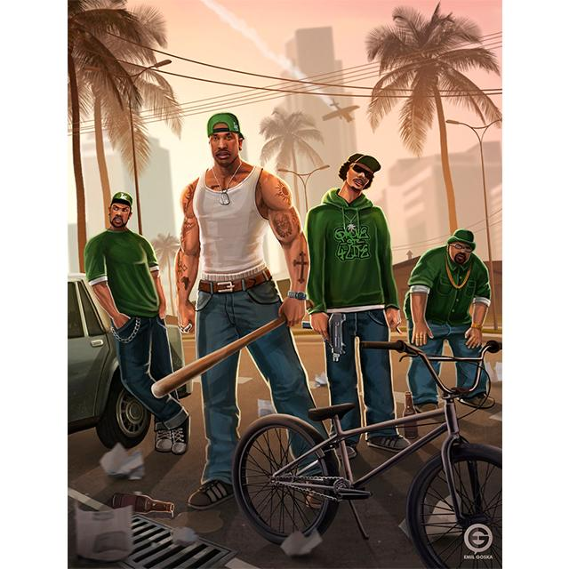 "Rockstar Games on Twitter: ""#SanAndreas #fanart by Emil ... Rockstar Games Tattoo"