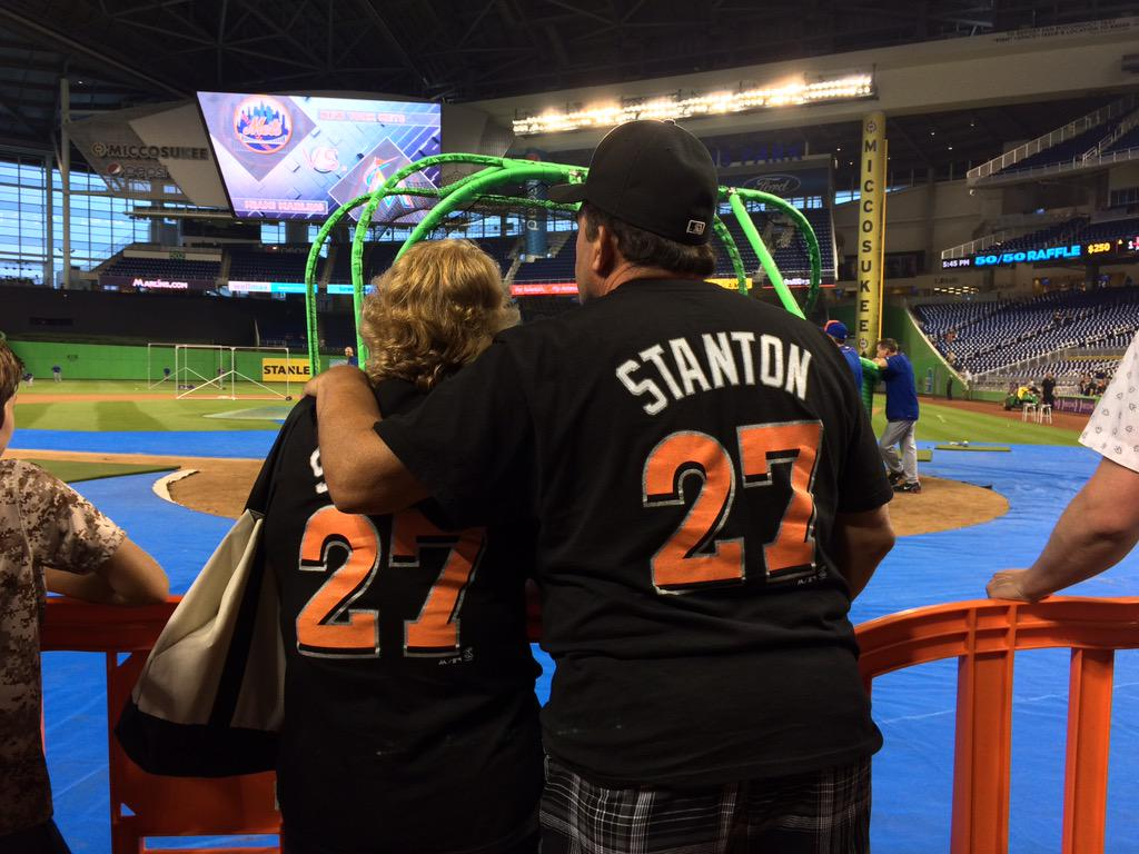 My parents! Haha awesome :) #SportsFans RT @Marlins: The #GSquad is ready to see @Giancarlo818 put on a show tonight! http://t.co/7tt6JbaUs3