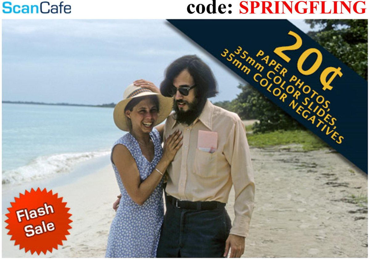 On Apr 30 'til Midnight, use code: SPRINGFLING and get 40% Off standard scanning services. We'll scan while you tan! http://t.co/G10pIirjWE
