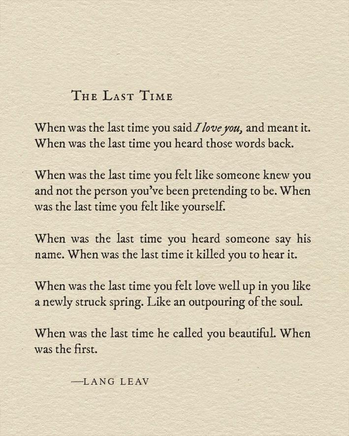 Lang Leav On Twitter Quot New Piece 😘 Poetry Quotes Http