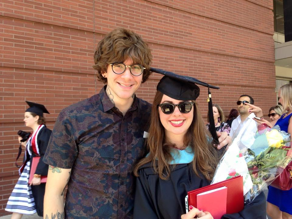 Alum @MattMcAndrew congratulates his sister Meredith @trexhoney at @UArts Commencement! Congrats! #Classof2015 http://t.co/WjxeKcha0k