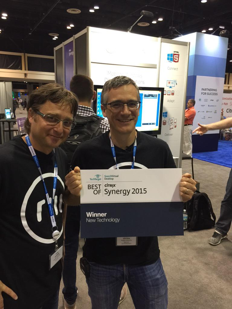 Reddo wins best of show ... New Technology! @reddomobility #CitrixSynergy #mobility http://t.co/iyRPDQEQxK