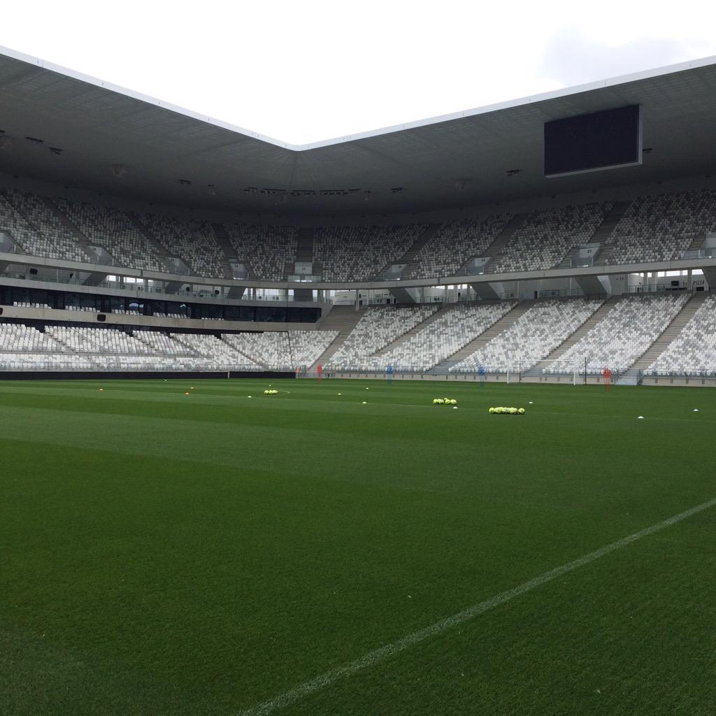 Premier entraînement au Nouveau Stade