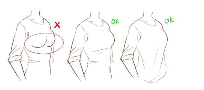 how to draw wrinkles in clothes shirts