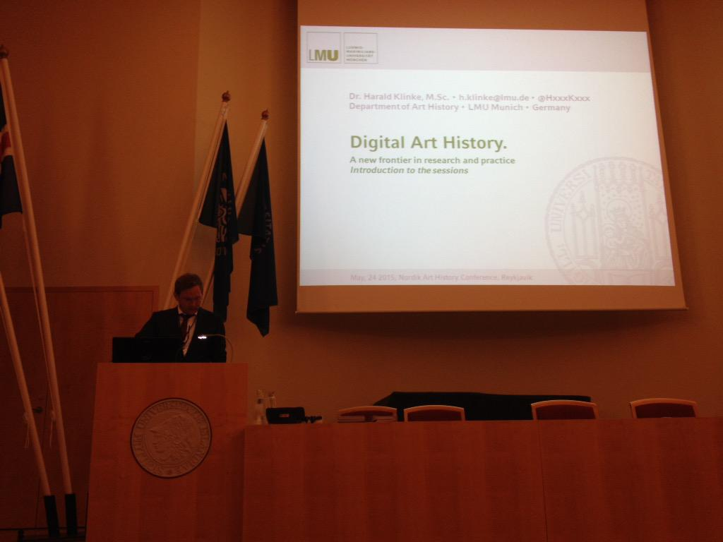 Finally - the Digital Art History-sessions begins at #Nordik2015 - four panels (and I'm on tomorrow) http://t.co/D70oTzsD7w