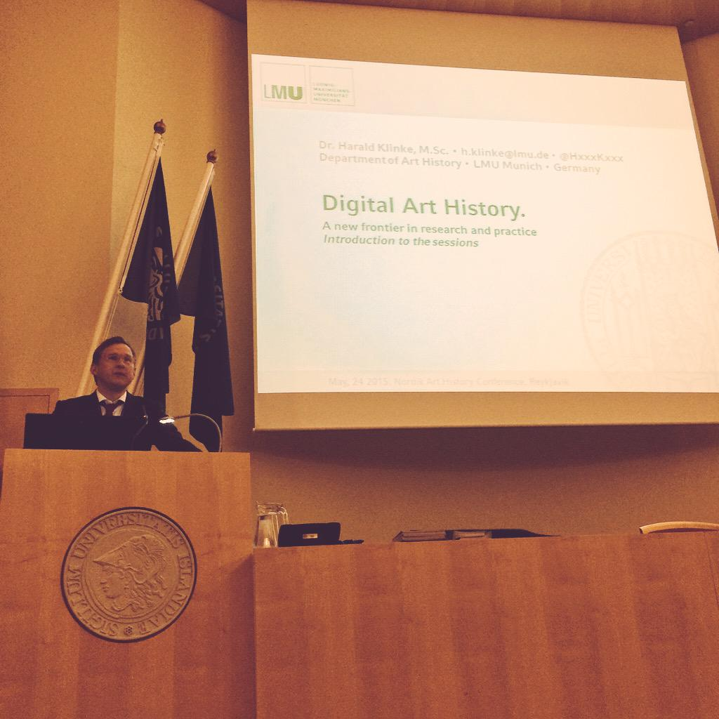 #digitalarthistory session just started. Welcome & introduction by Dr Harald Klinke @HxxxKxxx #NORDIK2015 #arthistory http://t.co/BLj30bFdRp