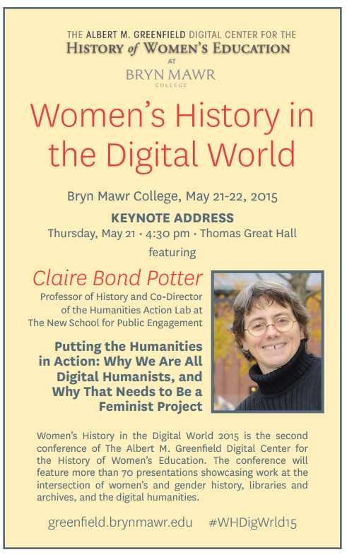One week from today @BrynMawrCollege! #WHDigWrld15 http://t.co/KH3Wg19E3n