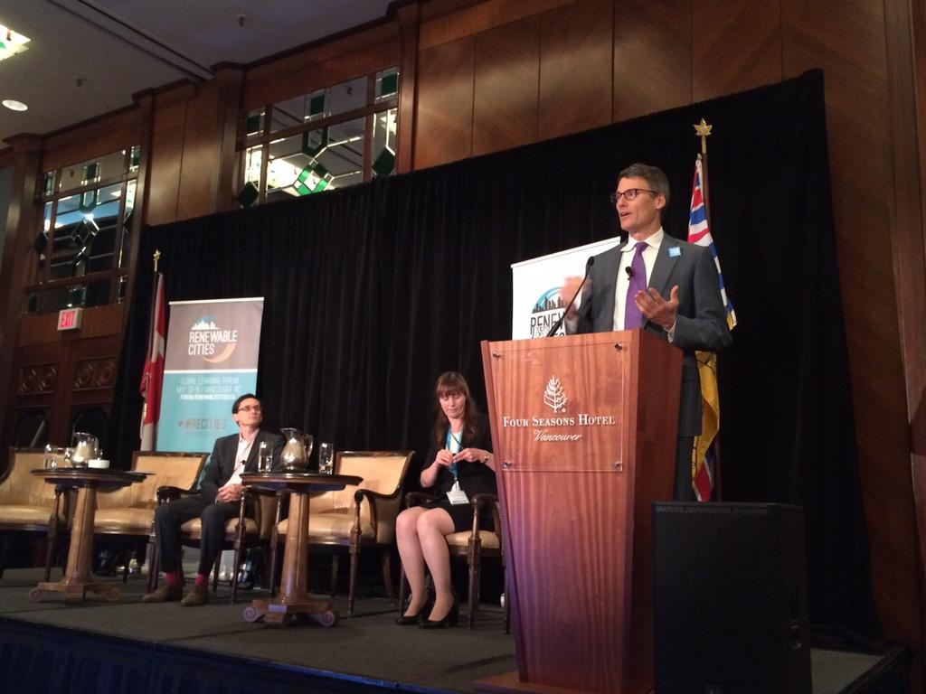 .@MayorGregor explaining the Greenest City Action Plan at #Van100RE http://t.co/KTcO8FKuQK