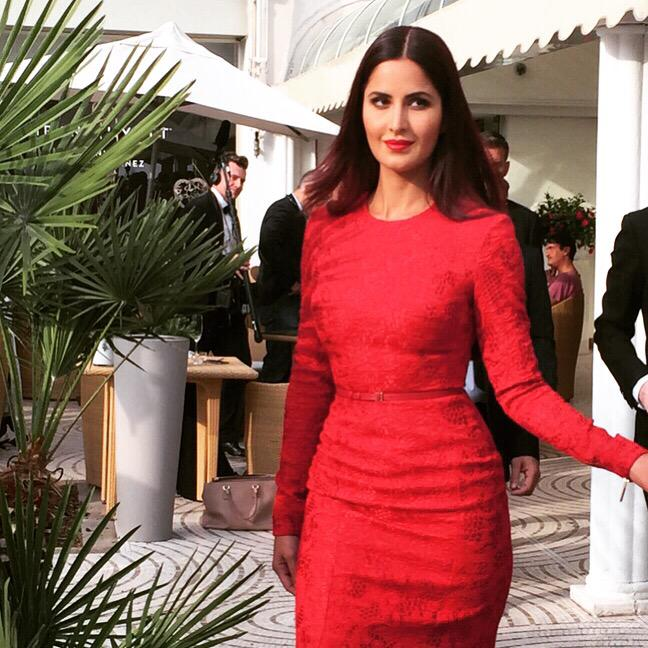 Katrina And Mallika Looked Average At The Cannes Red Carpet
