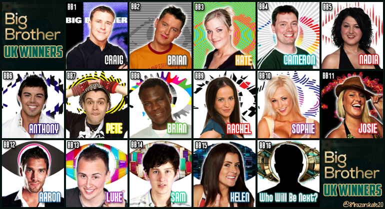 big brother winners list