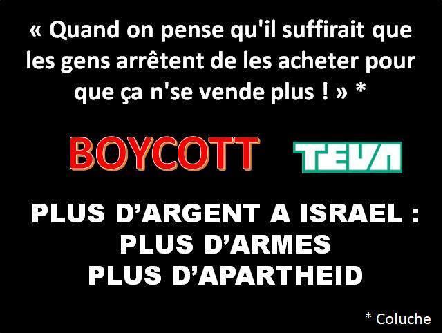 Médicaments génériques à boycotter d&#39;urgence #Teva #Israel  Vive la Palestine Libre #BDS #FREEPALESTINE #ICC <br>http://pic.twitter.com/Eg6x61n1Yu