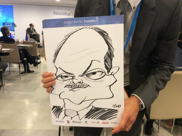 Tenemos caricaturista en #ForoHosteltur, este es Victor Moneo de Iberia, ahora en la mesa! http://t.co/LOJtMatxaO