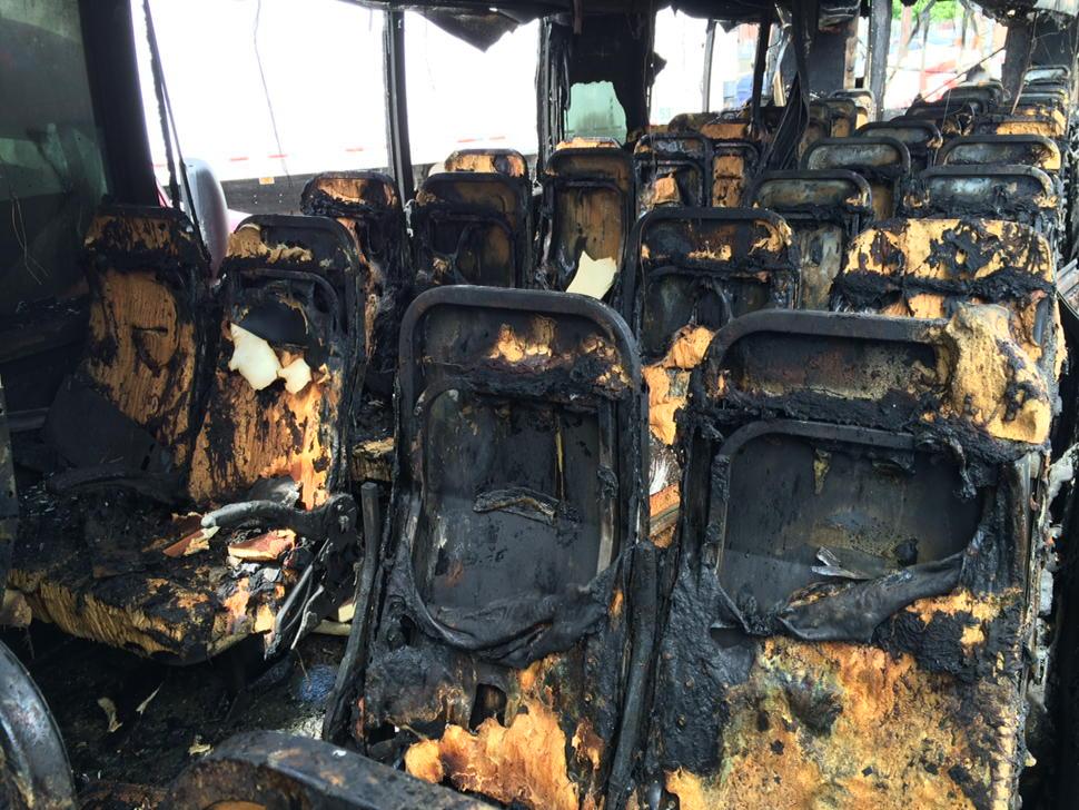 Interior Bolt Bus Interior Bolt Bus Completely Destroyed Melted