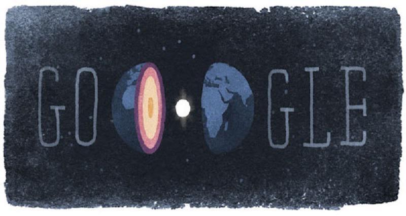 Il doodle di Google del 13 maggio 2015 in onore di Inge Lehmann