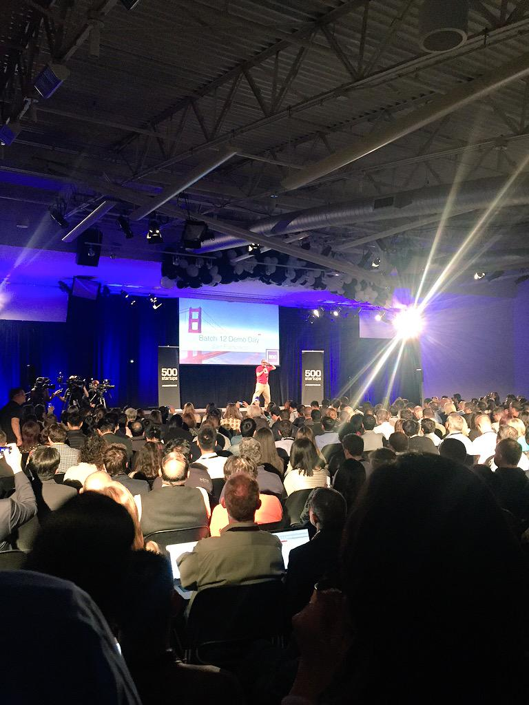 Standing room only. Congrats to @davemcclure & #500Strong team on supporting 1000+ startups worldwide! http://t.co/s2V8ExA3NK