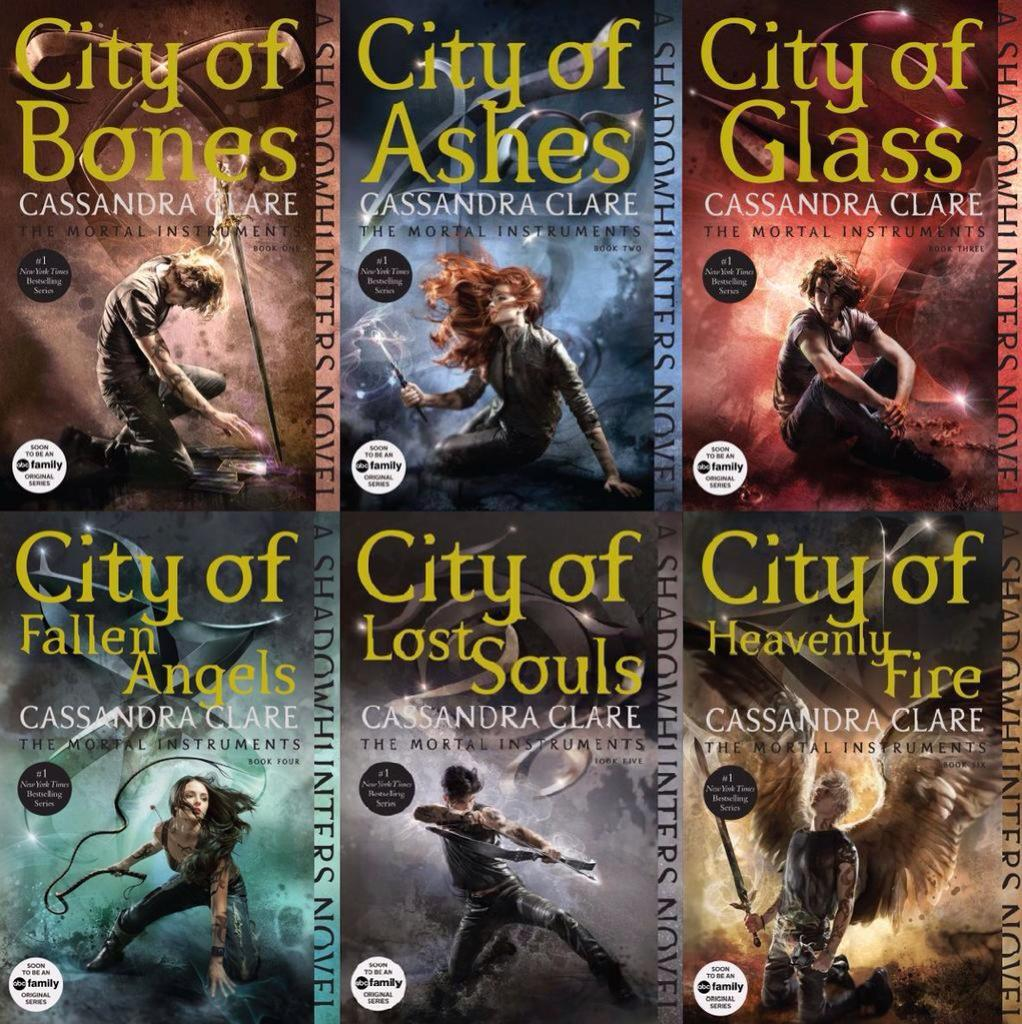 You can see all of the new MORTAL INSTRUMENTS covers here: http://t.co/lvPySZSanW http://t.co/svboM2n2GF
