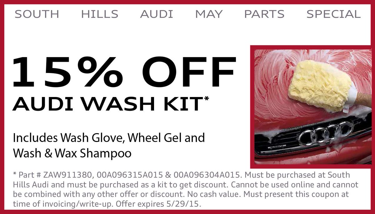South Hills Audi On Twitter Keep Your Baby Looking Nice With - South hills audi