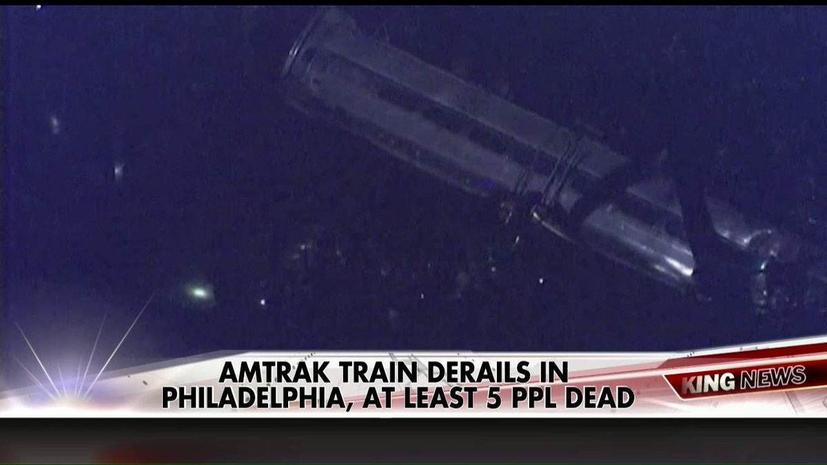 5 dead Amtrak derailment – leftists scum blame GOP