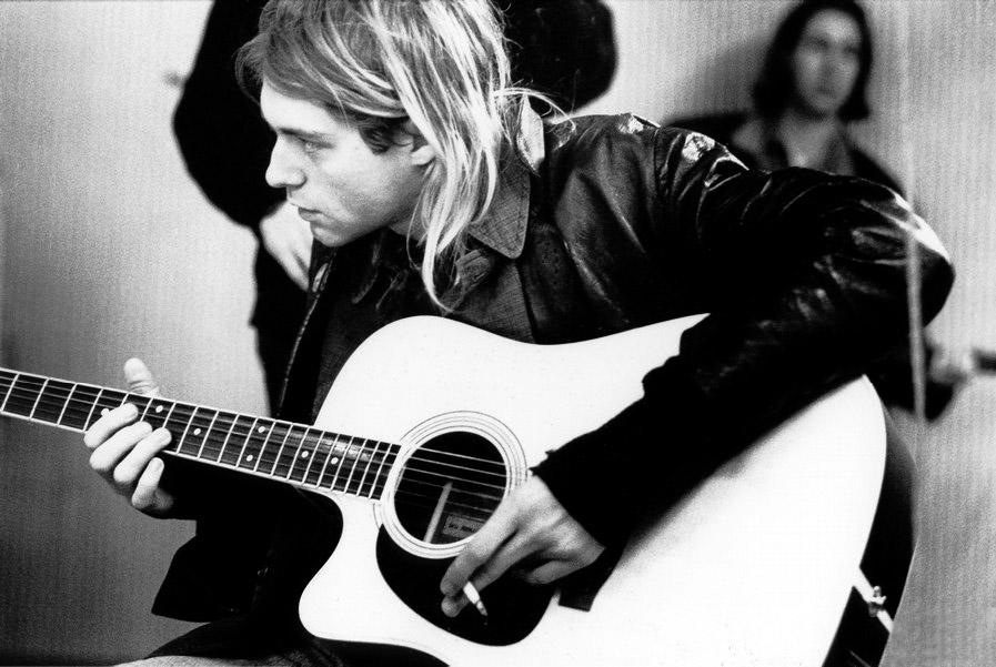 Kurt Cobain Playing Acoustic Guitar | www.pixshark.com ...