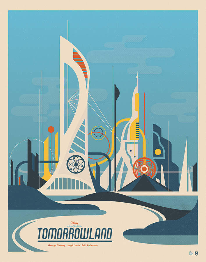 The @PosterPosse pays tribute #Tomorrowland with some amazing art! http://t.co/7xcez20Nc5 http://t.co/RPBe8sqOCF via @DisneyPictures
