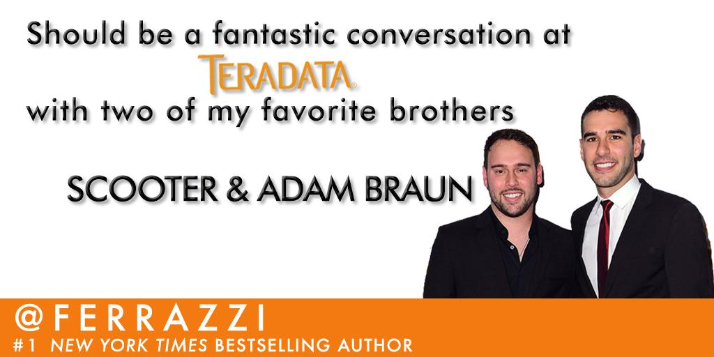 Today's gonna be great! Can't wait to talk to @AdamBraun & @scooterbraun at #ONEFest @Teradata @Teradata_Apps http://t.co/ijwrIv2eq6