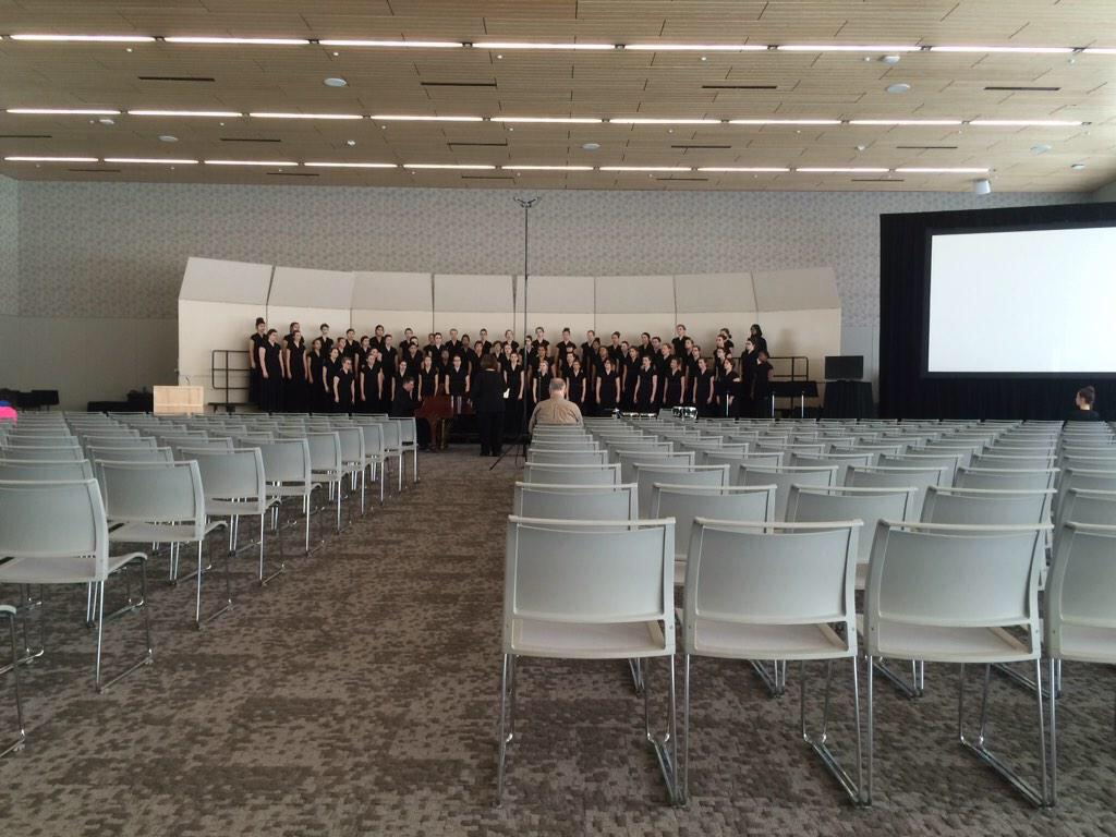 #HCSDchat highlight: Bradley women singing at OMEA State Conference...many singers here since 7th grade! http://t.co/NKQY0St5Wf