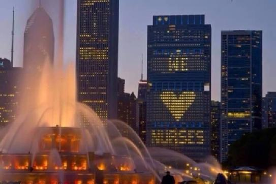 Gorgeous! RT @RacheleDemaster: As the sun sets on the final day of #NursesWeek.. a #Chicago salute to #Nurses. http://t.co/I5zW3ZQBT9
