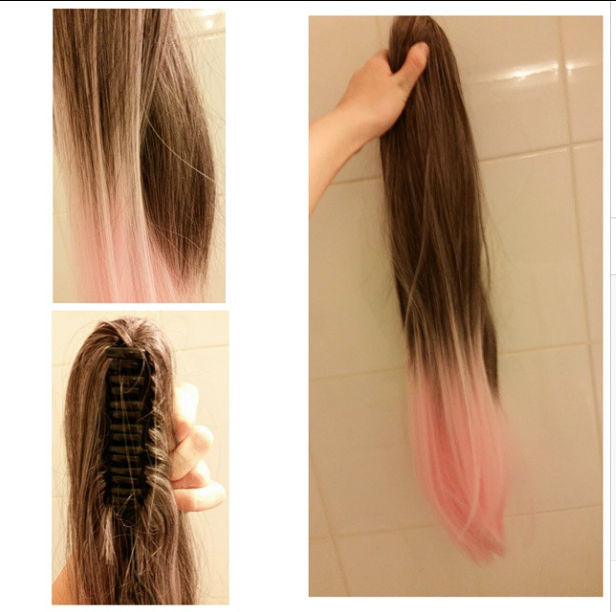 Peachybeaut on twitter selling these beautiful unworn 24 inch peachybeaut on twitter selling these beautiful unworn 24 inch licorice cotton candy ponytail hair extensions for just 50 pmusecretfo Images