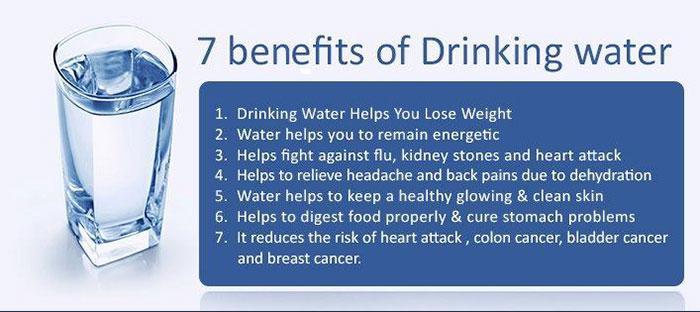7 Benefits of Drinking Water  #HealthTips #HealthyLiving