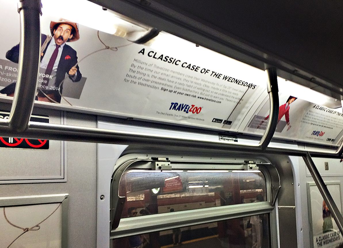 Hey #NYC! Got a Classic Case of the Wednesdays? Snap our subway ads & tag #Travelzoo for a chance to win swag! http://t.co/CbWIMm1xLy
