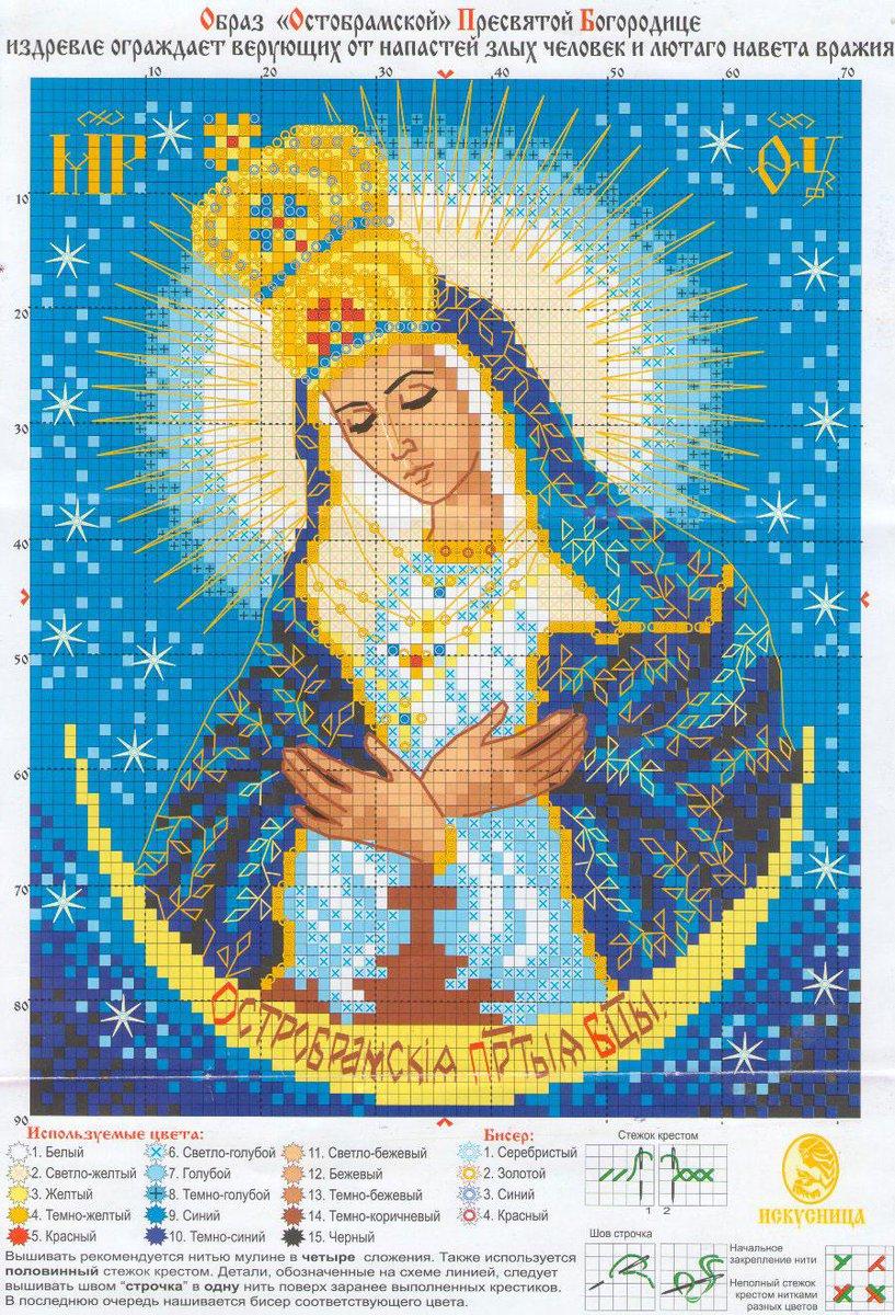 Вышивка крестом православных икон