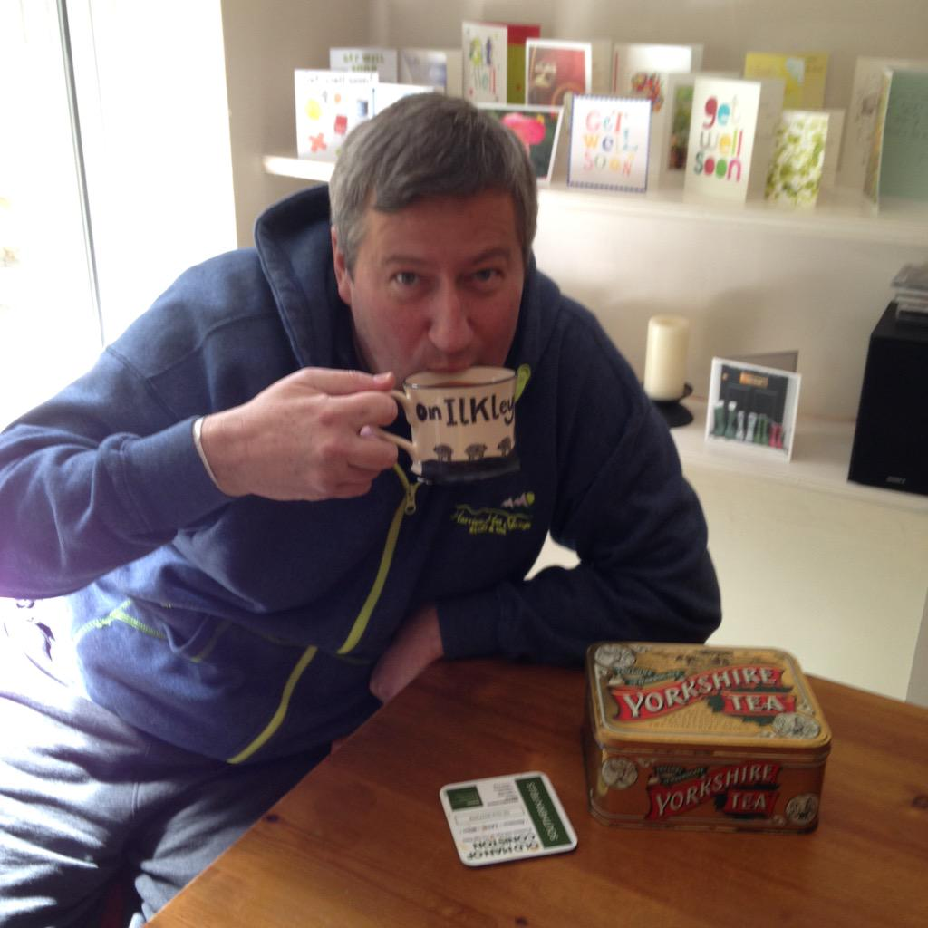 Just home great to be back lots of recovery still but starting with a cuppa @YorkshireTea n bacon butty http://t.co/ekn4Q9Yxj1
