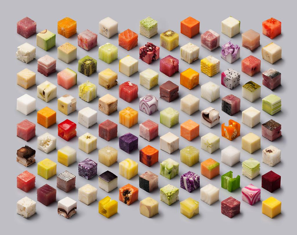Love this! A Variety of Unprocessed Foods Cut into Precise 2.5cm cubes! http://t.co/0LtLCugpQt via @Colossal http://t.co/yujc70clzL