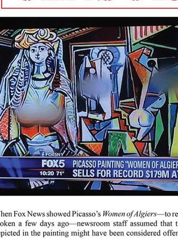 How sexually sick are conservatives & Fox News? They blurred parts of the Picasso painting. #SickMinds