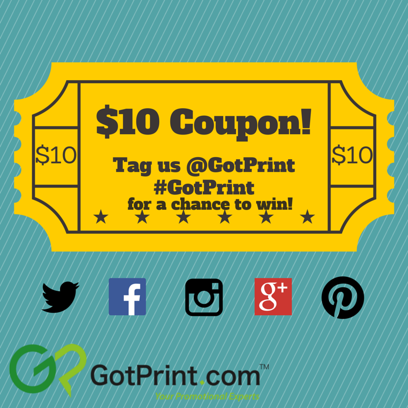 #GotPrint can help you with all of your promotional printing needs. Retweet for a chance to win a $10 coupon! http://t.co/bIdO1ggzQF