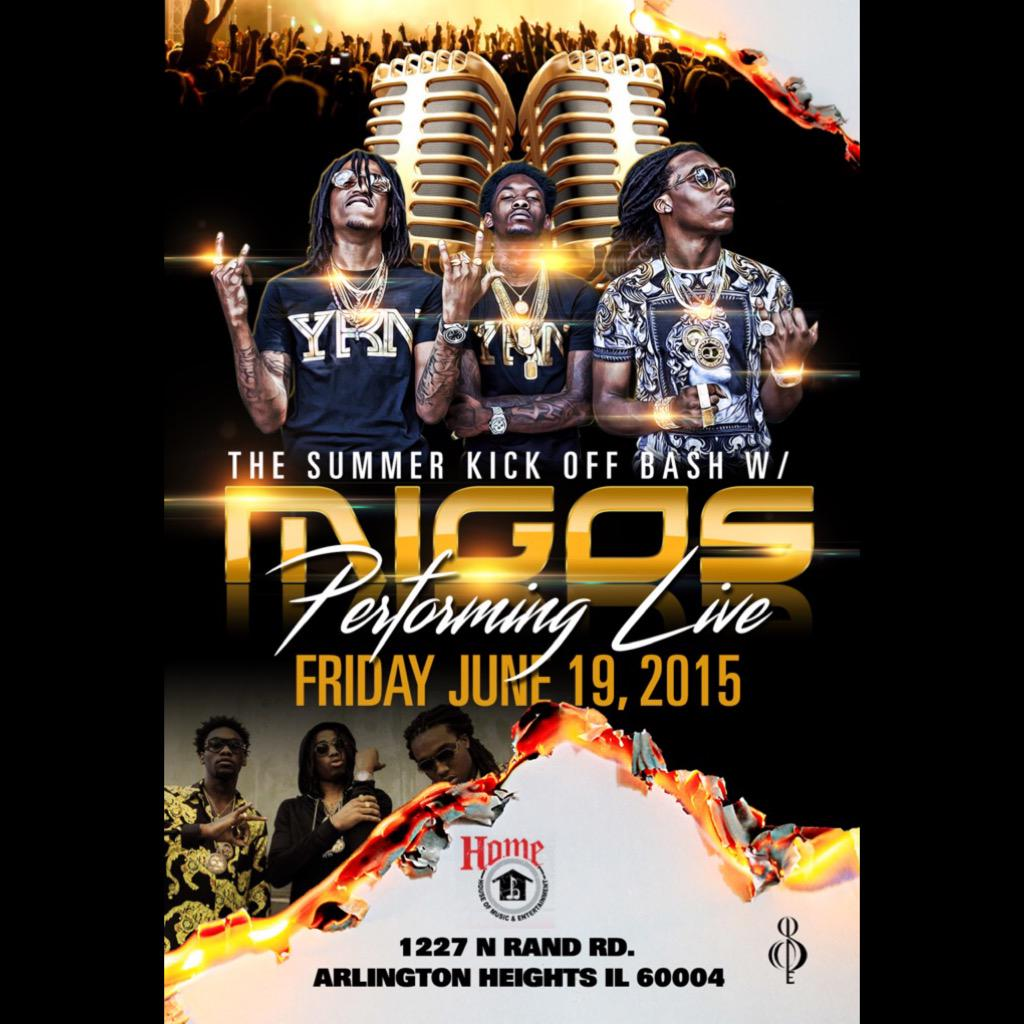Migos On Twitter Arlington Heights Il Friday June 19 We Will Be