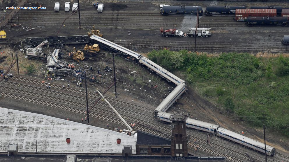 NTSB: Preliminary data shows Amtrak train exceeded 100 mph before crashing in Philadelphia: abcn.ws/1KIenhT pic.twitter.com/3GtbxwUqbv