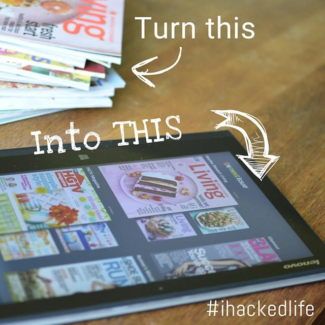 #ihackedlife by getting rid of my magazine pile and reading them through @nextissue on my … http://t.co/5JgtHgxoBe http://t.co/kyipecnLbg