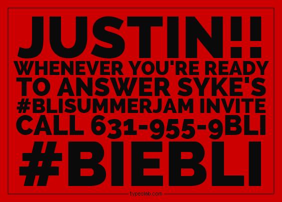 Hey @JBCrewdotcom let the #beliebers know! @SykeOnAir is NOT giving up on #BIEBLI! CC: #JustinBieber @ScooterBraun http://t.co/wYHchWzcNj