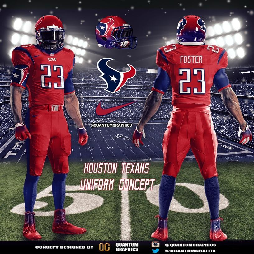 Quantum Graphics On Twitter Houston Texans All Red Uniform